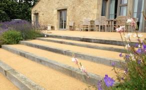 Béton poreux couleur sable à Sainte Péxine en Vendée