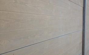 Béton poreux et clôture imitation bois